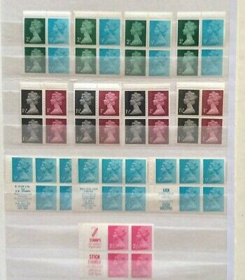 Gb Qeii Selection Of Early Decimal Machin Definitive Booklet Panes Mnh.
