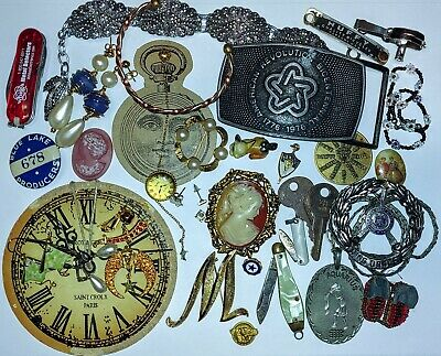 LOT Of Vintage Items- Jewelry, Keys, Knives, Etc. Junk Drawer/ Collectibles