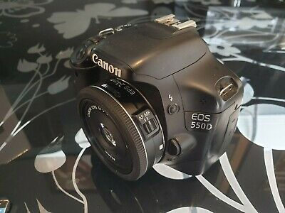 Canon EOS 550d, EFS 24mm f2.8 lens + accessories (batteries, SD card, filters)