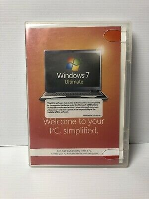 Microsoft Windows 7 Ultimate 64 bit OEM  Full Version DVDs