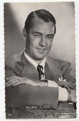 ALAN LADD American Actor  1947 Paramount Real Photo Postcard Editions P.I. 415