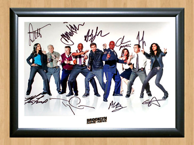 Brooklyn Nine-Nine TV Series Cast Signed Autographed A4 Photo Poster Memorabilia