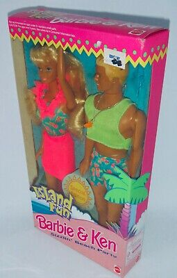 1993 Special Edition Island Fun Barbie & Ken Gift Pack BNIB