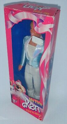 1988 My First Ken, Easy to Dress Barbie Doll BNIB