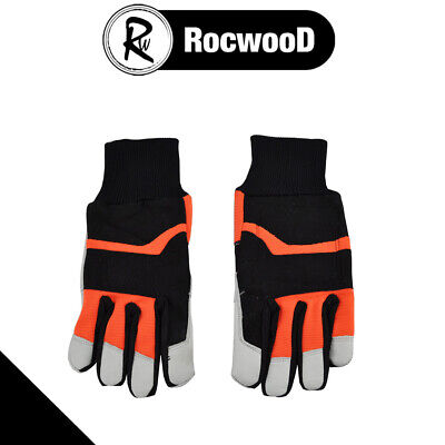 Chainsaw Safety Gloves Class 0 Size 10 Large Protective Lining