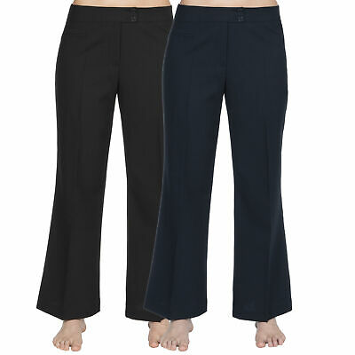 Ladies Women/'s Finely Ribbed Bootleg Stretch Trousers Pants Unbranded Size 10-26