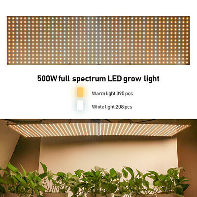 500W Dimmable LED Grow Light Lamp Full Spectrum Plant Light Ultra-thin The New