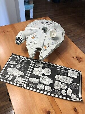 Vintage Star Wars Millenium Falcon Kenner 1979 100% Complete WORKS! Instructions