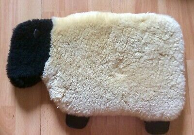 Real Sheepskin Hot Water Bottle Cover In The Shape Of A lamb - Pure Luxury - New