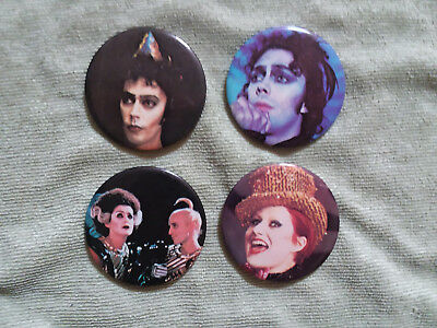 ROCKY HORROR PICTURE SHOW-set of 4 original pins/buttons marked 20th Century