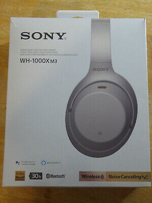 Sony WH-1000XM3 Wireless Noise-Canceling Over-Ear Headphones (Silver) SEALED