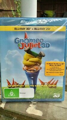Gnomeo And Juliet 3D Blu-ray + 2D Blu Ray - Region Free [New & Sealed]