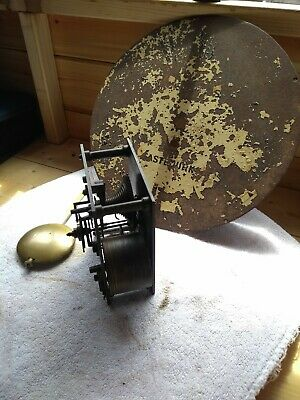 Antique, vintage fusee clock movement for parts or rebuild.