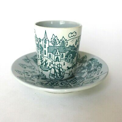 Vintage Nymolle Art Faience Hoyrup Limited Edition Demitasse Cup and Saucer Set