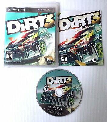DiRT 3 (Sony PlayStation 3, 2011) COMPLETE TESTED PS3