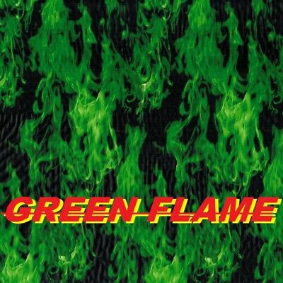 Hydrographic Film Hydro Dipping Water Transfer Printing Green Flames LL136