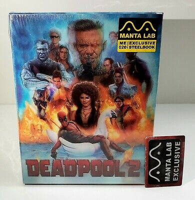 Deadpool 2  Blu-ray STEELBOOK [MANTA LAB]  LENTICULAR FS OOS/OOP #0381/1000