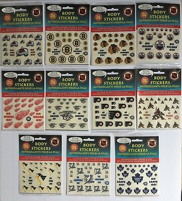 NHL Okee Dokee Tattoo Stickers - Pick Your Team