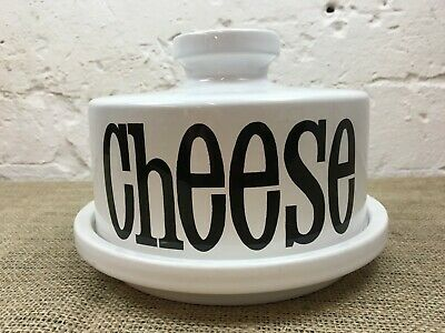 VINTAGE 1970s T G GREEN SPECTRUM WHITE POTTERY CHEESE DISH DOME