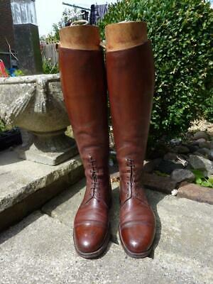 WWI British Military Army Officer's Leather Boots & Trees by Maxwell London