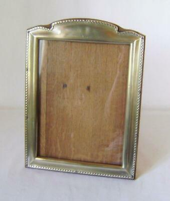 1920s Stand Up Photo / Picture Frame in Silver Plate EPNS with solid oak backing