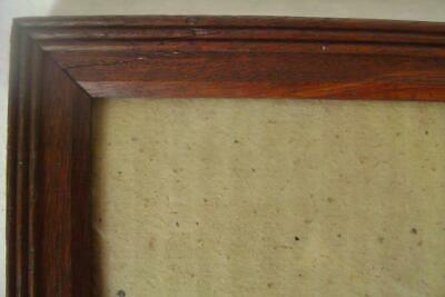 Vintage Solid Oak Picture Frame 34 x 29 cm Reeded Edge with Glass