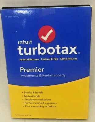 Intuit TurboTax Premier 2017 Federal + State Efile PC / MAC Disc CD USA Software