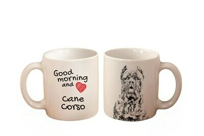 Cane Corso Good morning and love dog High Quality Ceramic Mug Graphics UK