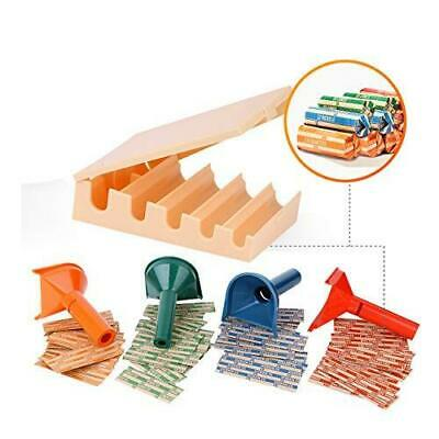 Coin Counters Tray & 4 Color-Coded Coin Sorters Tubes Bundled with 100-Count Ass