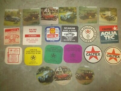 21 Diff.CALTEX Motor Oil  Issue ADVERTISING collectable COASTERS