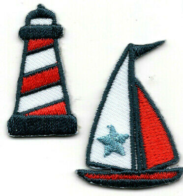 #4059 Gold,White,Black Lighthouse,Marine,Nautical Embroidery Applique Patch