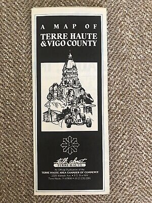 1985 Map Of Terre Haute & Vigo County, Indiana