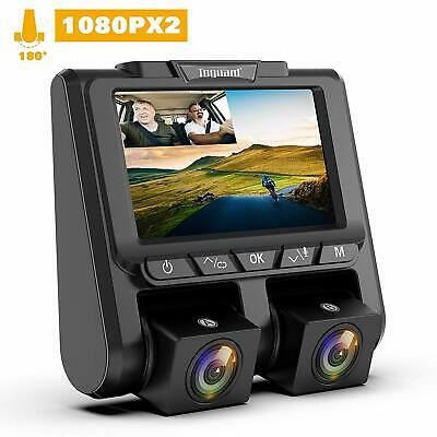 """TOGUARD Dual Dash Cam FHD 1080P+1080P Front and Rear  3"""" LCD 340° G-Sensor, WDR"""