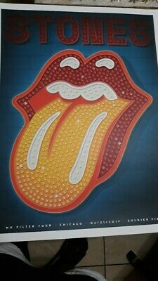 The Rolling Stones Poster Set~Chicago,Il~No Filter Tour~6/21&25/19~Soldier Field