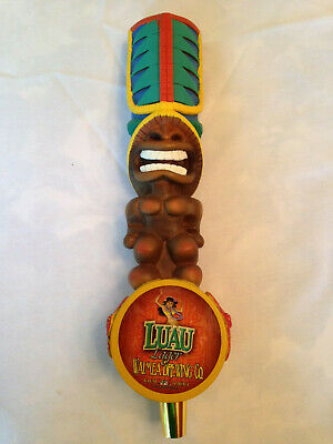 """Waimea Brewing """"Luau Lager"""" beer tap handle.  Tiki NEW and RARE!  CLOSED BREWERY"""