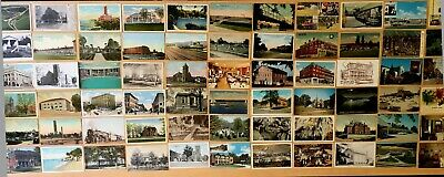 Big Collection of 148 Antique & Vintage Postcards ALL OHIO Various Towns LOT
