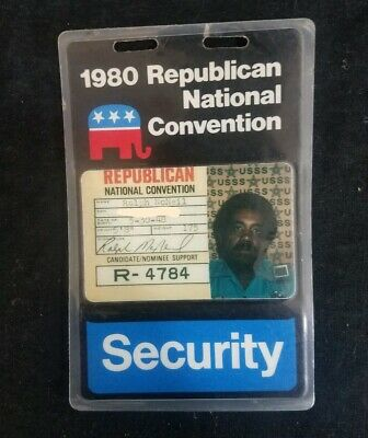 Rare 1980 Republican National Convention USSS Security Pass