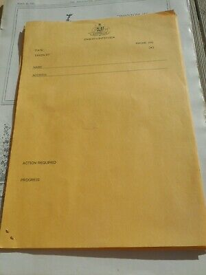 vintage Australian Government enquiry/ interview forms Coat of Arms 1970s.