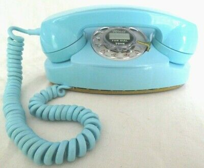 Western Electric Baby Blue Princess Rotary Phone - Polished and Working