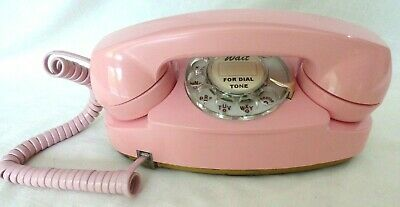 Western Electric Pink Princess Rotary Phone - Polished and Working
