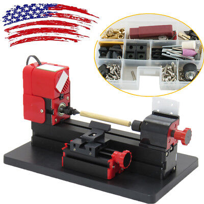 6in1 Lathe DIY Machine Tool Kit Jigsaw Milling Lathe Drilling Machine 20000rpm U
