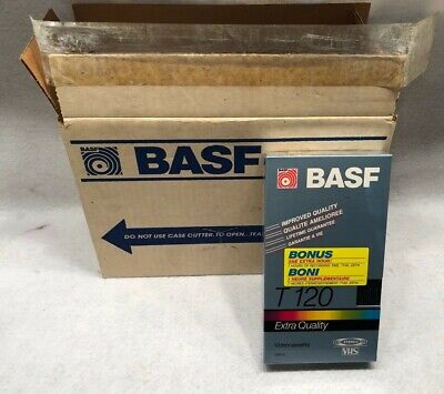 BASF Extra Quality T-140 VHS Videocassette Box of 10 New Sealed