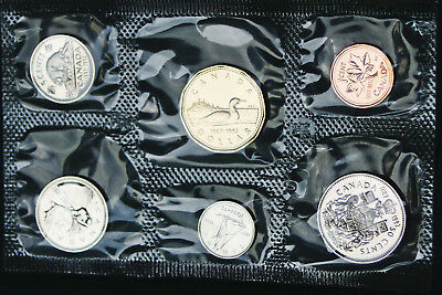 1992 Canada Prooflike PL set - 6 perfect coins in org packaging and certificate