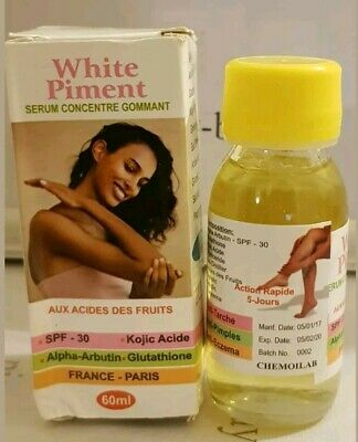 White Piment Serum 60Ml  With Fruit Acids  For Dark Knuckles, Elbows + Knees