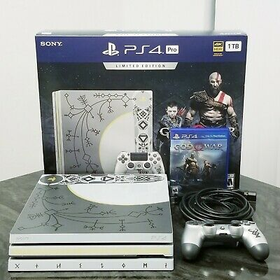 Sony PlayStation 4 Pro 1TB Console Bundle with God of War Limited Edition PS4