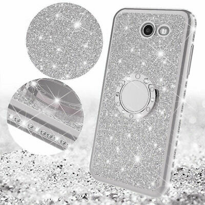 Bling Diamond Shockproof Ring Stand Cover Case For Samsung Galaxy Note S7/8/9 A8