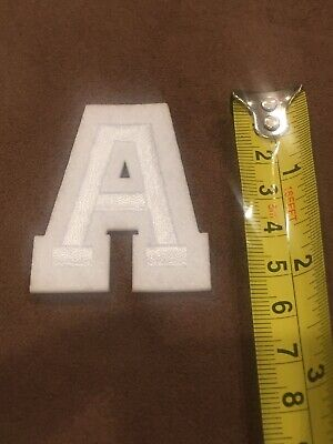 Letter A       Alphabet 26 Letters Embroidered Iron On Patch Sew DIY Accessories