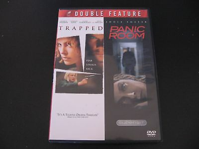 Trapped / Panic Room Double Feature DVD Jodie Foster Kevin Bacon Courney Love