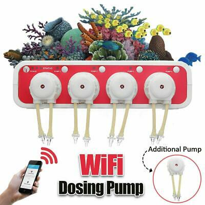 JEBAO WiFi Dosing Pump Remote Control Automatic Marine Aquarium +Conversion Plug
