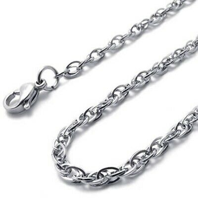 Jewelry ladies chain, stainless steel curb chain necklace, silver (width 2 O7H4